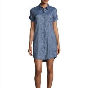 Theory Linen Mavine Denim Dress